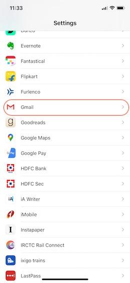 1. Установите Gmail в качестве электронной почты по умолчанию на iPhone.