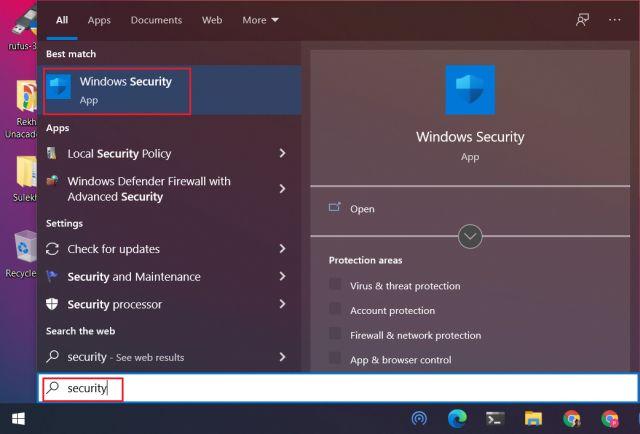 Dateien und Ordner von Windows Defender ausschließen