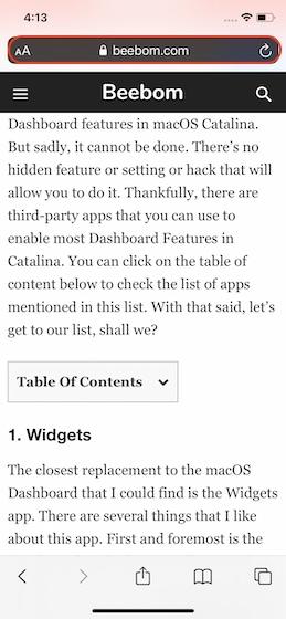 4. Выполните поиск текста на веб-странице с помощью строки URL.