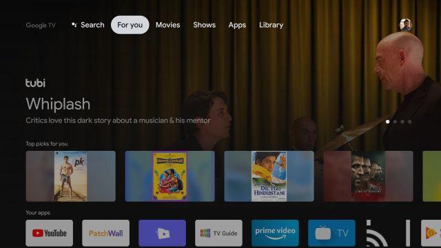Installieren Sie Google TV auf Android TV in Indien