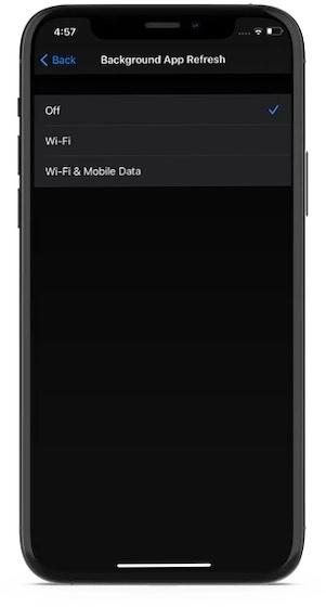 Deaktiviere-Hintergrund-App-Aktualisierung