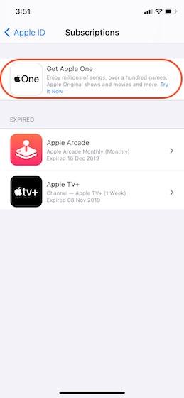 нажмите на Apple One