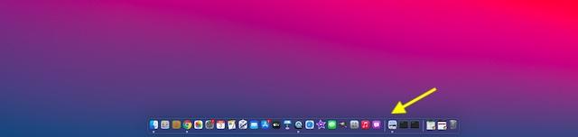Dock redimensionado en macOS