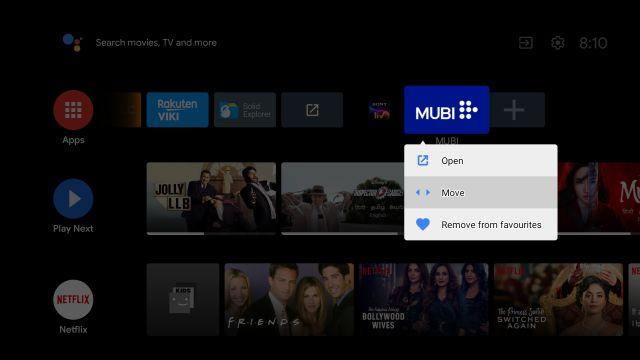 Настройте домашний экран Android TV