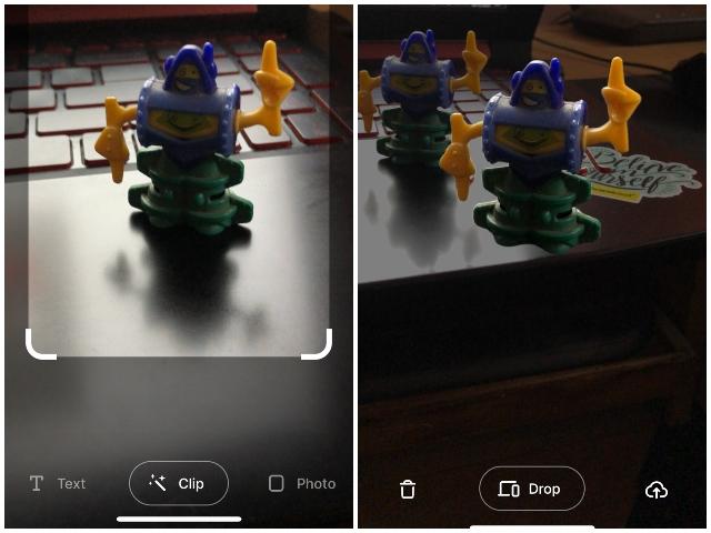 Приложение ARclip копирует и вставляет объекты реального мира iphone android