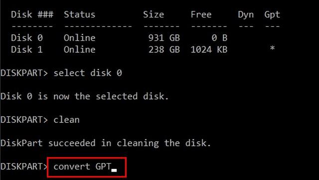 Convertir MBR a GPT