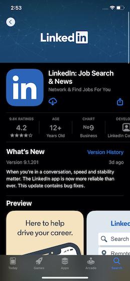 Найдите приложение в App Store