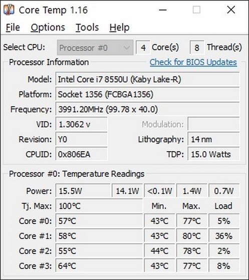 Core Temp Как проверить температуру процессора