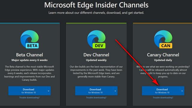 Microsoft Edge с выбором цветовой темы