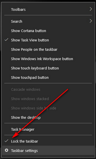 Восстановите отсутствующую панель задач в Windows 10