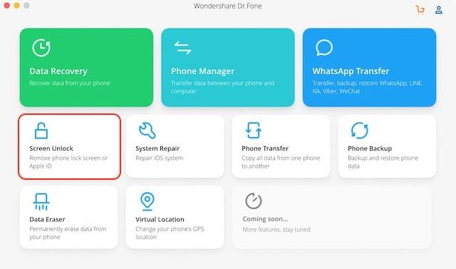 Шаги по разблокировке и восстановлению заблокированных устройств iOS с помощью Dr.Fone 2