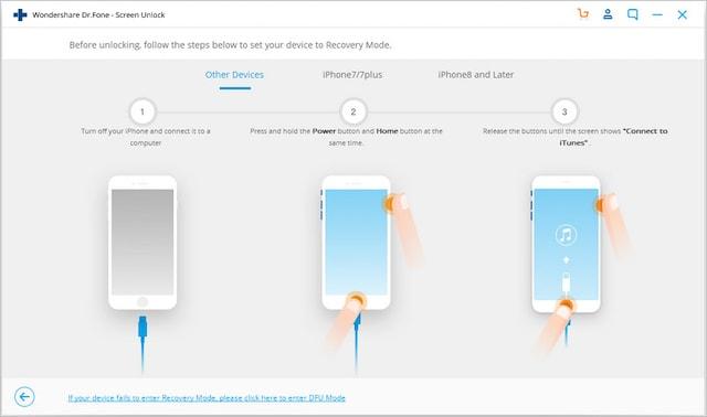 Шаги по разблокировке и восстановлению заблокированных устройств iOS с помощью Dr.Fone 4