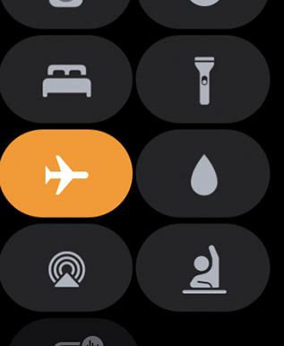 включить режим полета Apple Watch