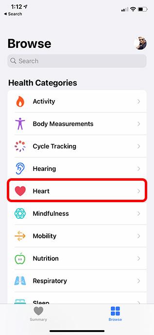 приложение здоровья категории сердца