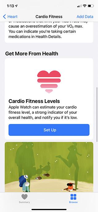 настроить кардио фитнес iphone