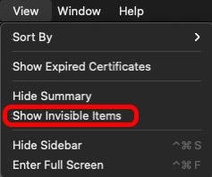 просмотр показать невидимые предметы брелок