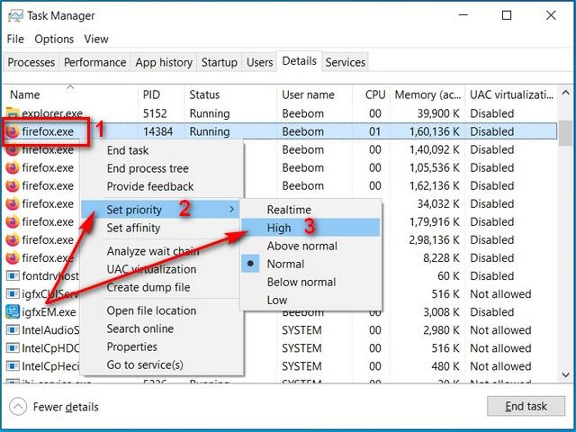 выделить больше оперативной памяти для определенных приложений