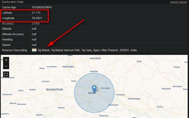 Поддельное географическое положение в Mozilla Firefox