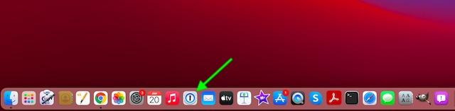 Запустите 1Password на Mac