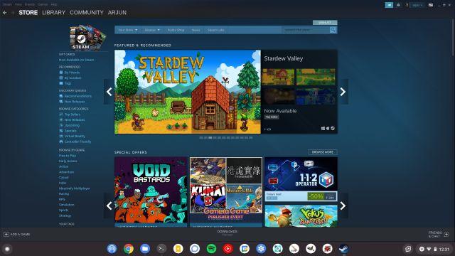 Установите и играйте в игры Steam на Chromebook