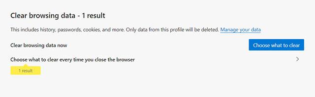 очистить край данных браузера
