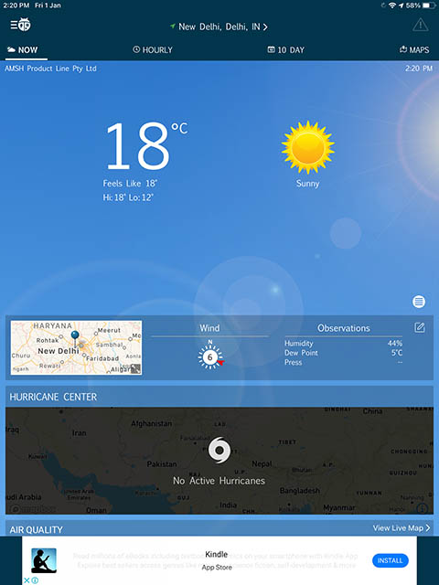 приложение Weatherbug