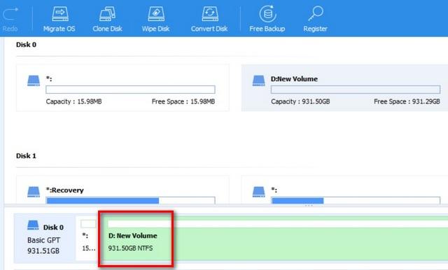 combinar varias particiones del disco duro en Windows 10