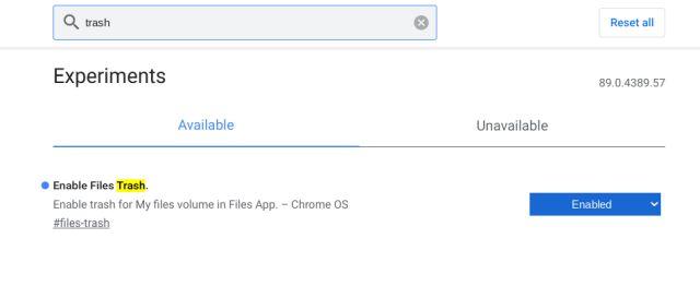 Включить корзину (корзину) в Chrome OS (2021 г.)