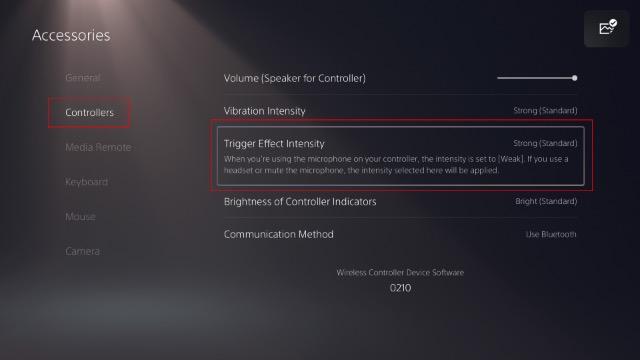 настроить адаптивные триггеры контроллера DualSense для PS5