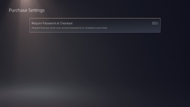 включить требовать пароль для оформления заказа ps5
