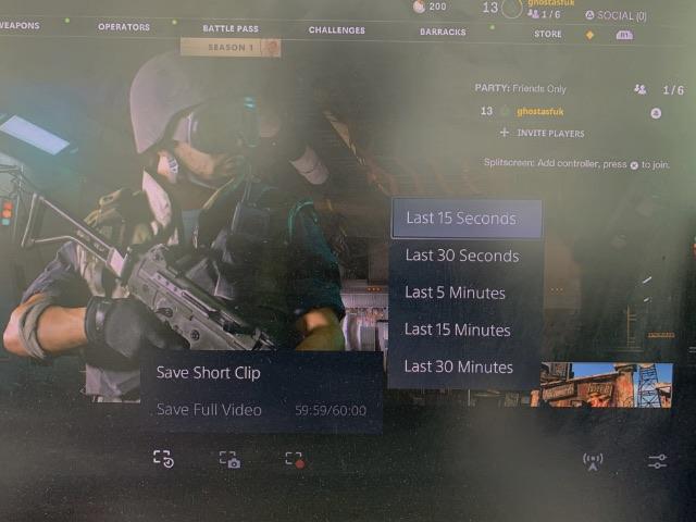 запись игрового клипа ps5