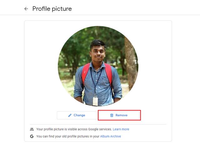 eliminar foto de perfil paso final