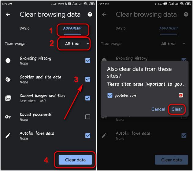 Удаление и отключение файлов cookie в Google Chrome на Android и Windows