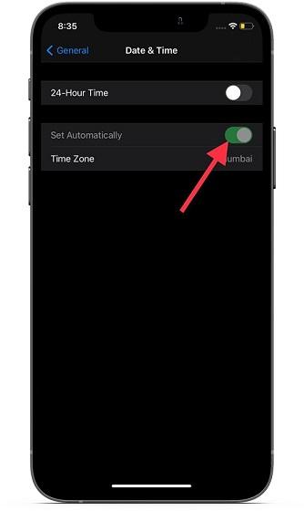 Правильно установите часовой пояс на iOS