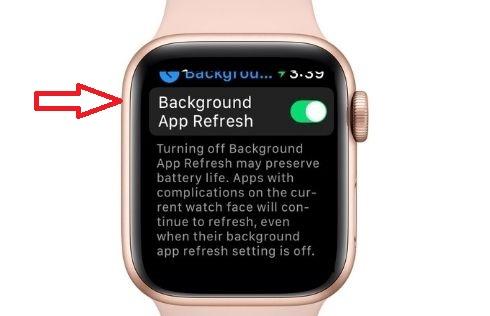 Возьмите под свой контроль обновление фонового приложения на Apple Watch
