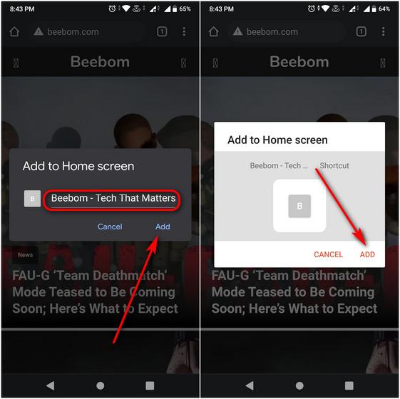 Превратите любой веб-сайт в приложение для Android с помощью Google Chrome