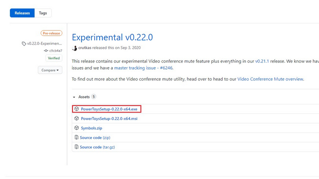download powertoys 0.22 experimentell