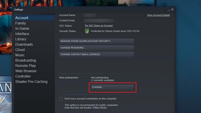 присоединяйтесь к бета-версии Steam