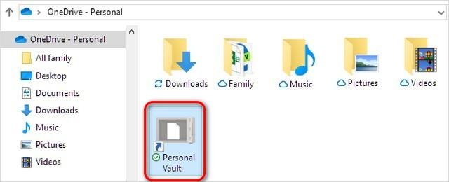 Bóveda personal de OneDrive