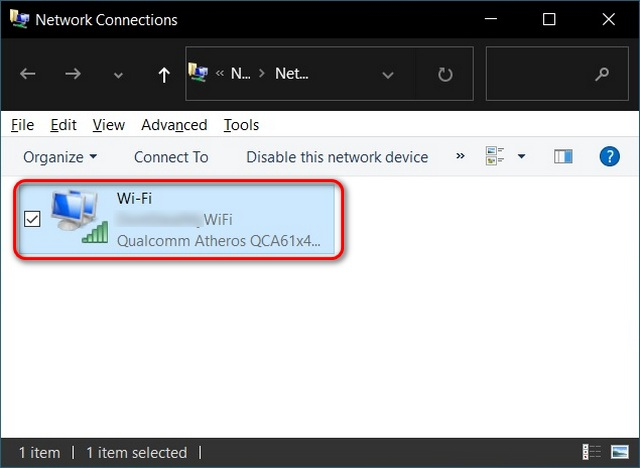 Windows 10 active Wi-Fi adapter