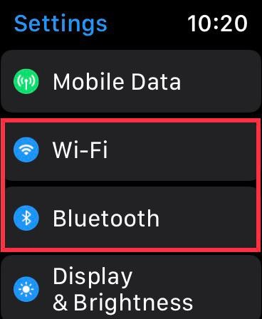 Schalten Sie WiFi auf der Apple Watch aus oder ein