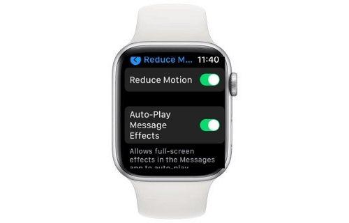 Habilitar Reducir movimiento en watchOS