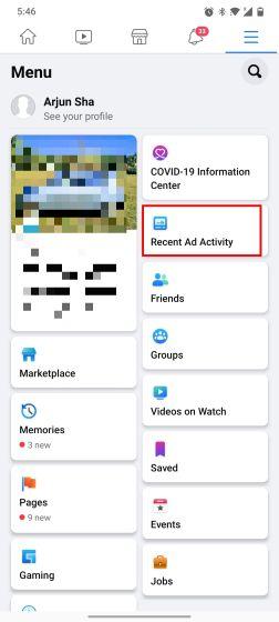 Encuentre anuncios mostrados recientemente en Instagram y Facebook (2021)