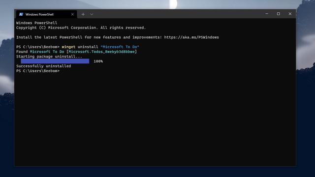 desinstalar winget - desinstalar aplicaciones del administrador de paquetes de Windows
