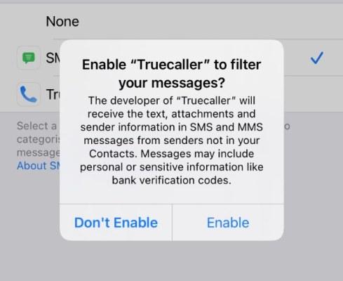 permisos necesarios para filtrar mensajes