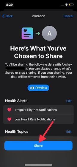 Compartir datos de salud: cómo configurar Health Sharing en iOS 15
