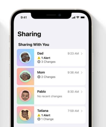compartir salud en iOS 15 - miembros de la familia