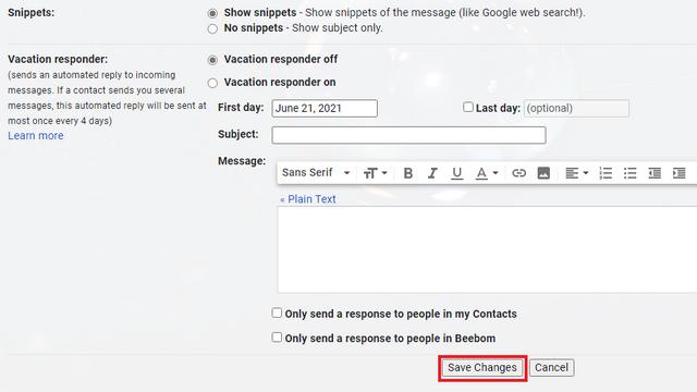 guardar cambios gmail