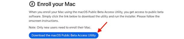 Descargar la utilidad de acceso beta pública de macOS