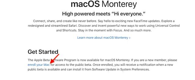 inscribe tu Mac - Instala macOS Monterey Public Beta